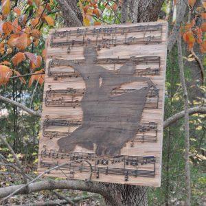 ballroom dancing wall wood art