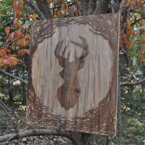 buck head wall wood art