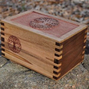 celtic tree of life wood box art version 1